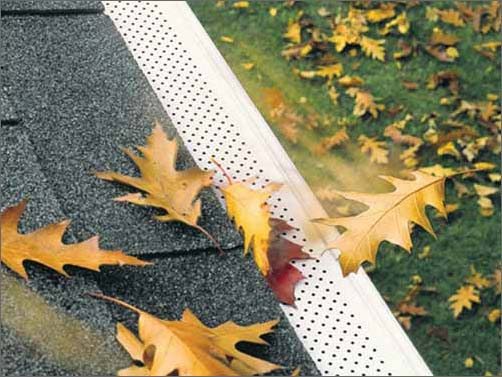 gutter guard keep leaves out